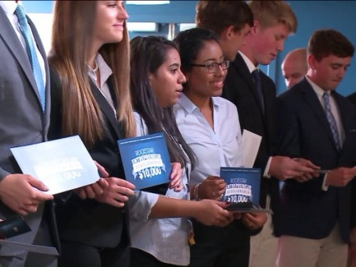 High school entrepreneurs pitch their big ideas, with real money and investors on the line